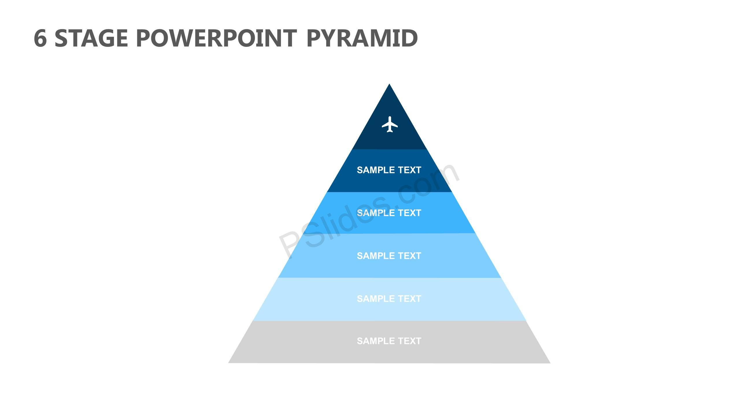 6 stage powerpoint pyramid pslides