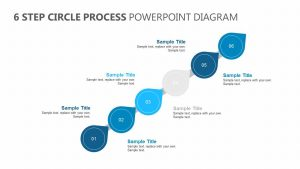 6 Step Circle Process PowerPoint Diagram
