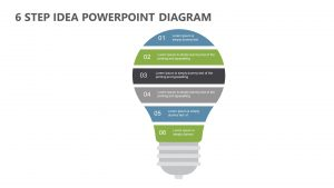 6 Step Idea PowerPoint Diagram