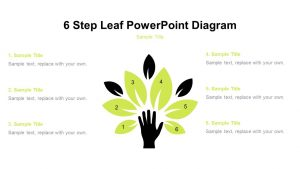 6 Step Leaf PowerPoint Diagram