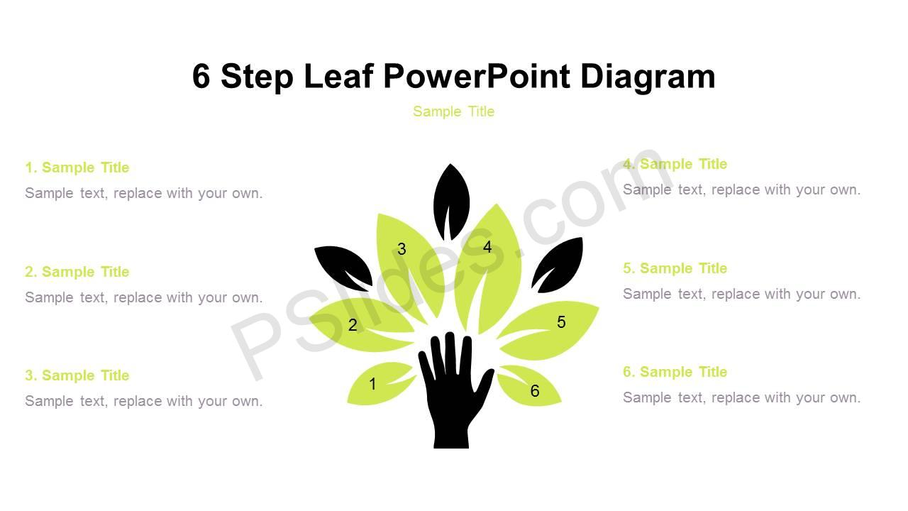 6-Step-Leaf-PowerPoint-Diagram-Slide1