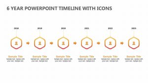 6 Year PowerPoint Timeline with Icons
