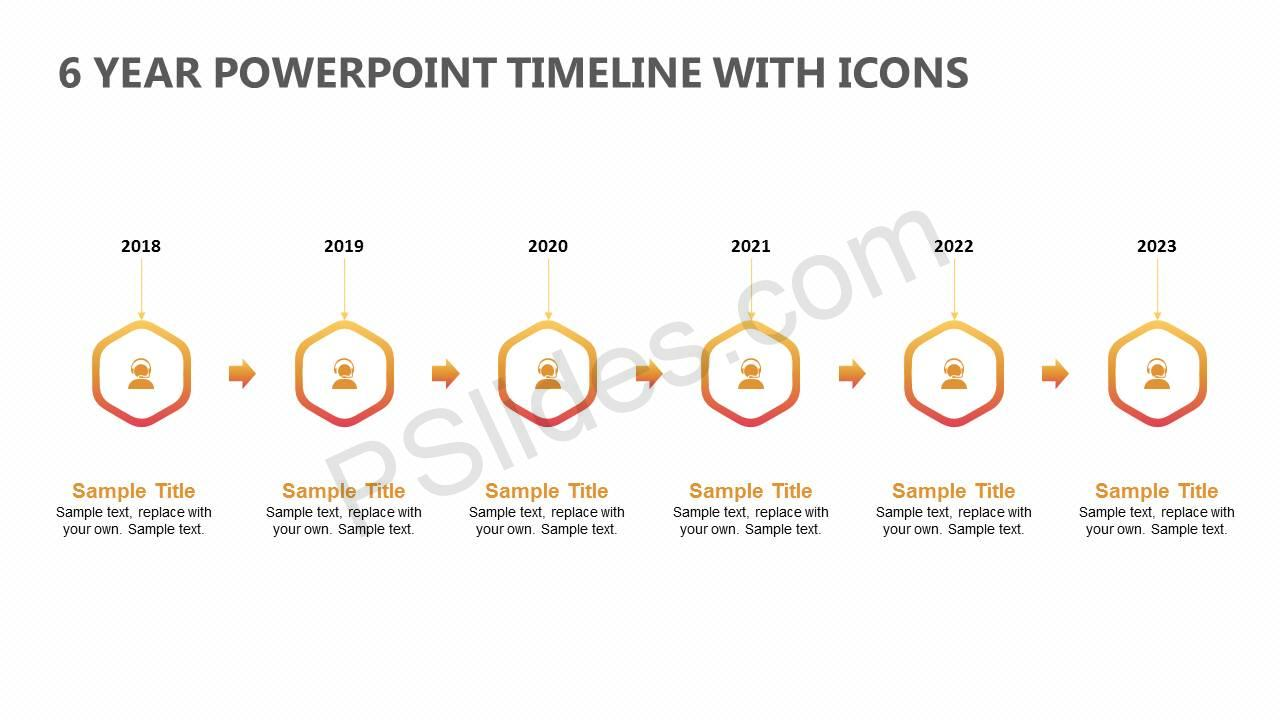 6-Year-PowerPoint-Timeline-with-Icons-Slide1