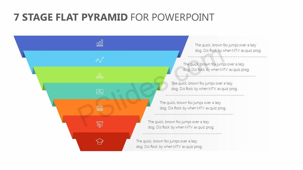 7-Stage-Flat-Pyramid-PowerPoint-Diagram-Slide1