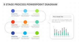 9 Stage Process PowerPoint Diagram