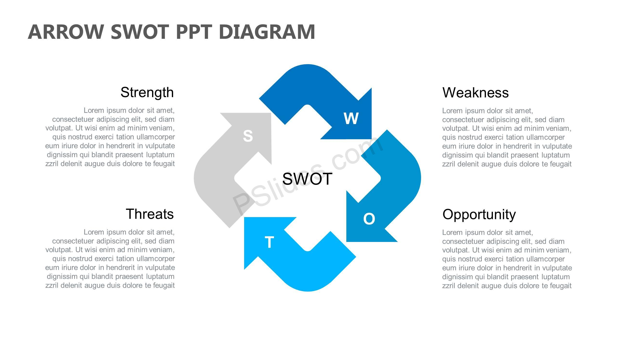 Arrow-SWOT-PPT-Diagram-Slide1