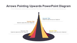 Arrows Pointing Upwards PowerPoint Diagram