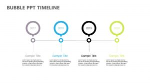 Bubble PPT Timeline