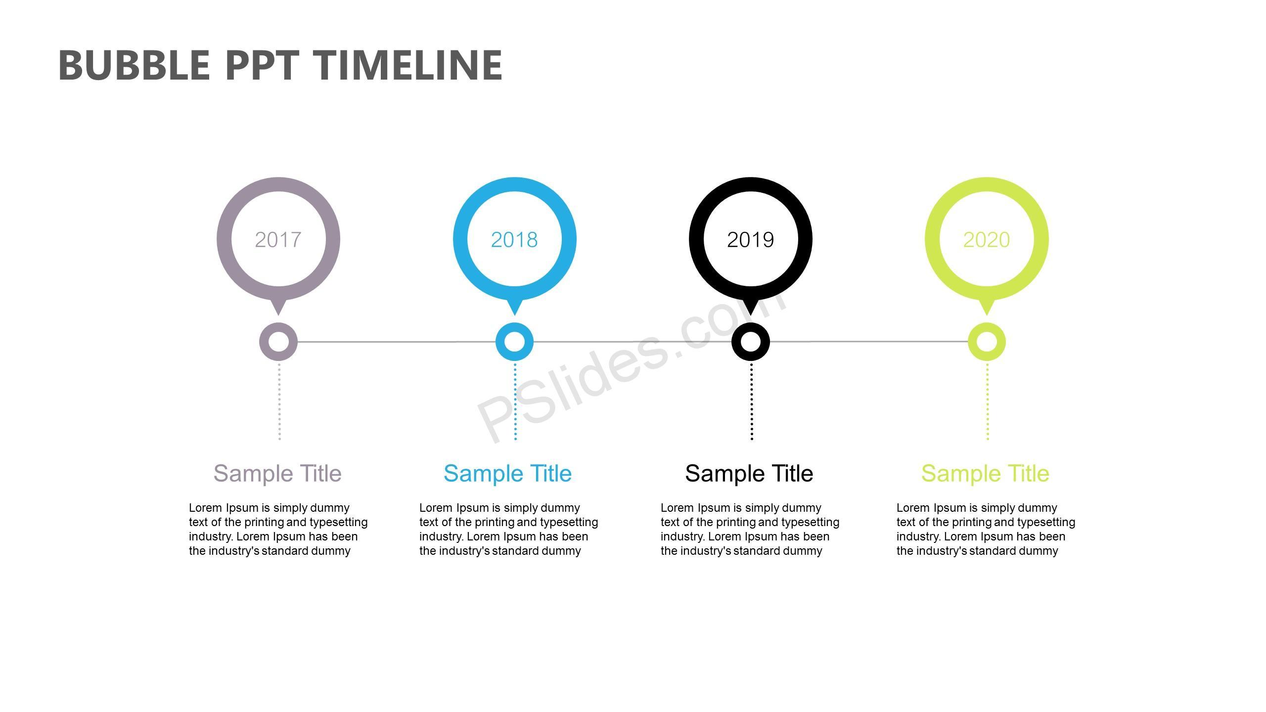 Bubble PPT Timeline