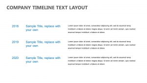 Company Timeline Text Layout