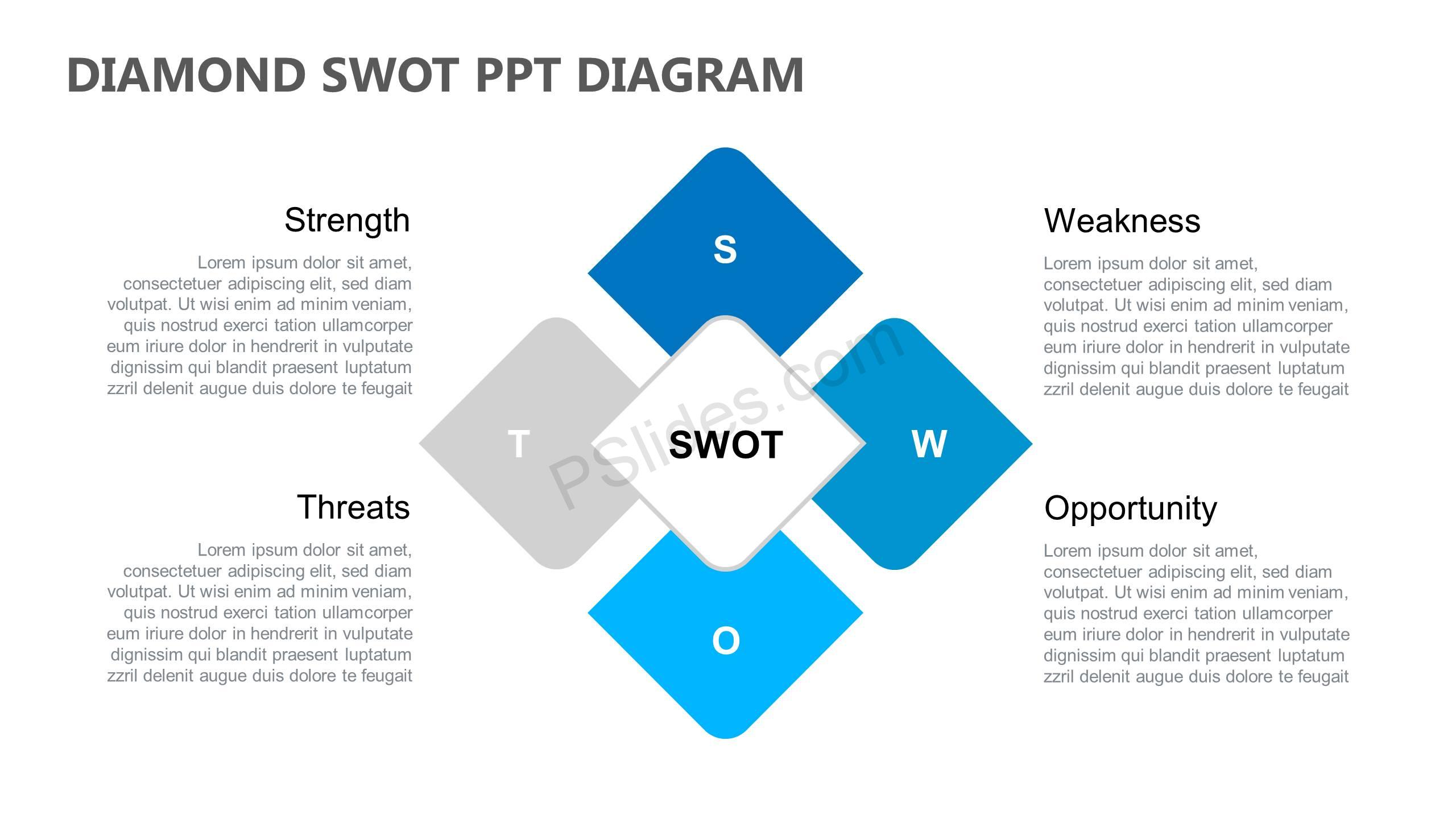 Diamond-SWOT-PPT-Diagram-Slide1
