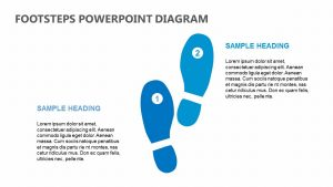 Footsteps PowerPoint Diagram