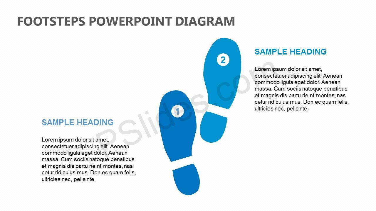 Footsteps-PowerPoint-Diagram-Slide1