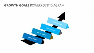 Growth Goals PowerPoint Diagram