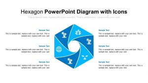 Hexagon PowerPoint Diagram with Icons