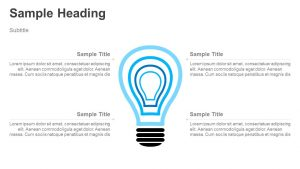Layered Light bulb PowerPoint Diagram