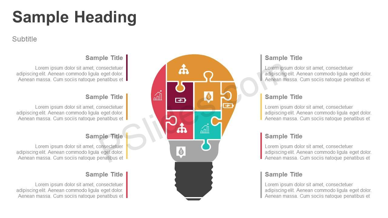 Light-bulb-Puzzle-PowerPoint-Diagram-with-Icons-Slide11