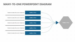 Many-To-One PowerPoint Diagram