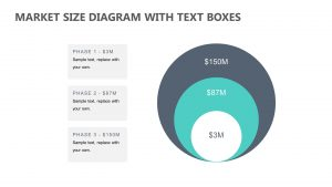 Market Size Diagram with Text Boxes