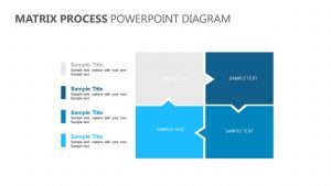 Matrix Process PowerPoint Diagram