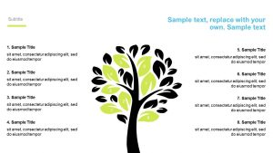 Numbered Tree PowerPoint Diagram