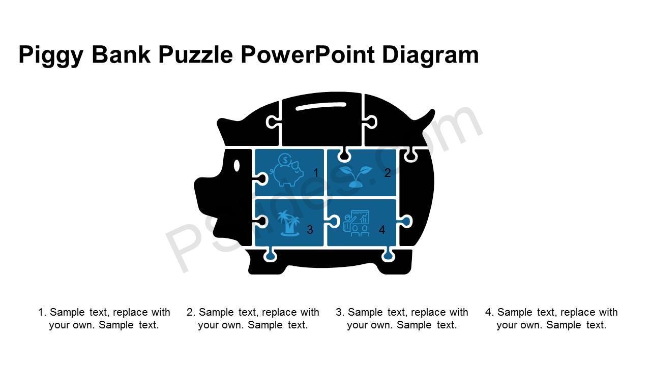 Piggy-Bank-Puzzle-PowerPoint-Diagram-Slide1
