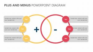 Plus and Minus PowerPoint Diagram