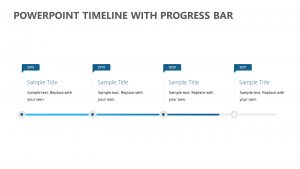 PowerPoint Timeline with Progress Bar