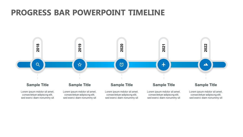 progress bar powerpoint timeline