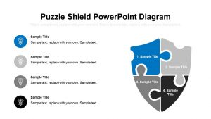 Puzzle Shield PowerPoint Diagram
