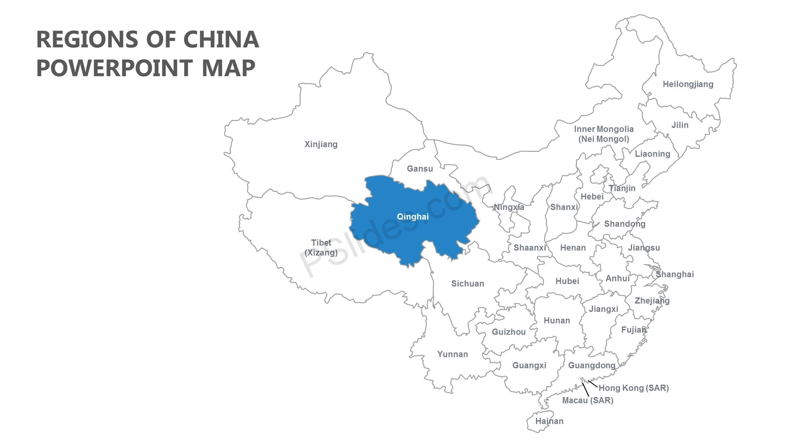 Regions-of-China-PowerPoint-Map-Slide1