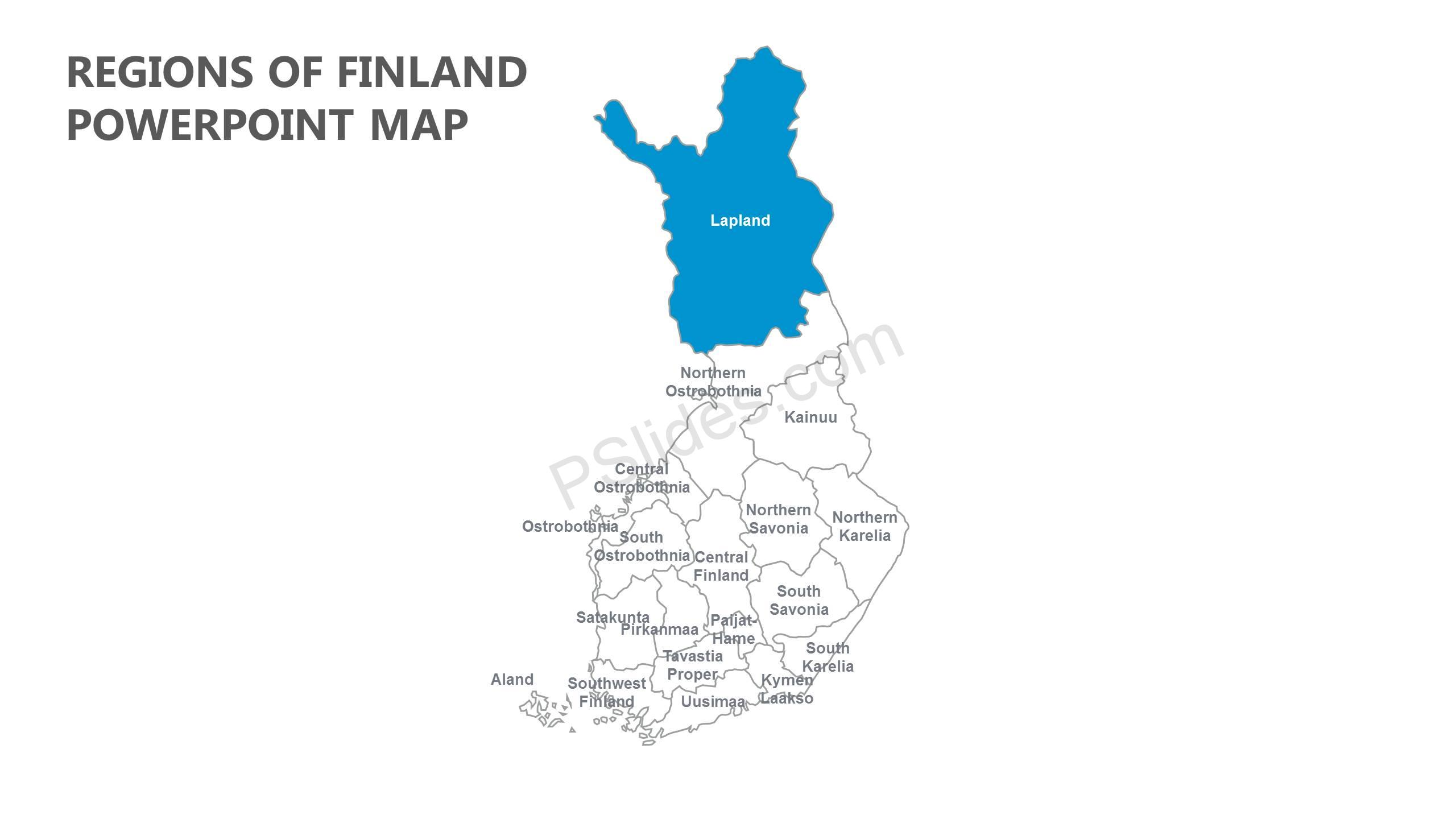 Regions-of-Finland-PowerPoint-Map-Slide1