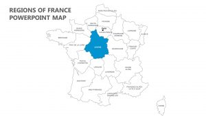 Regions of France PowerPoint Map