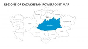 Regions of Kazakhstan PowerPoint Map