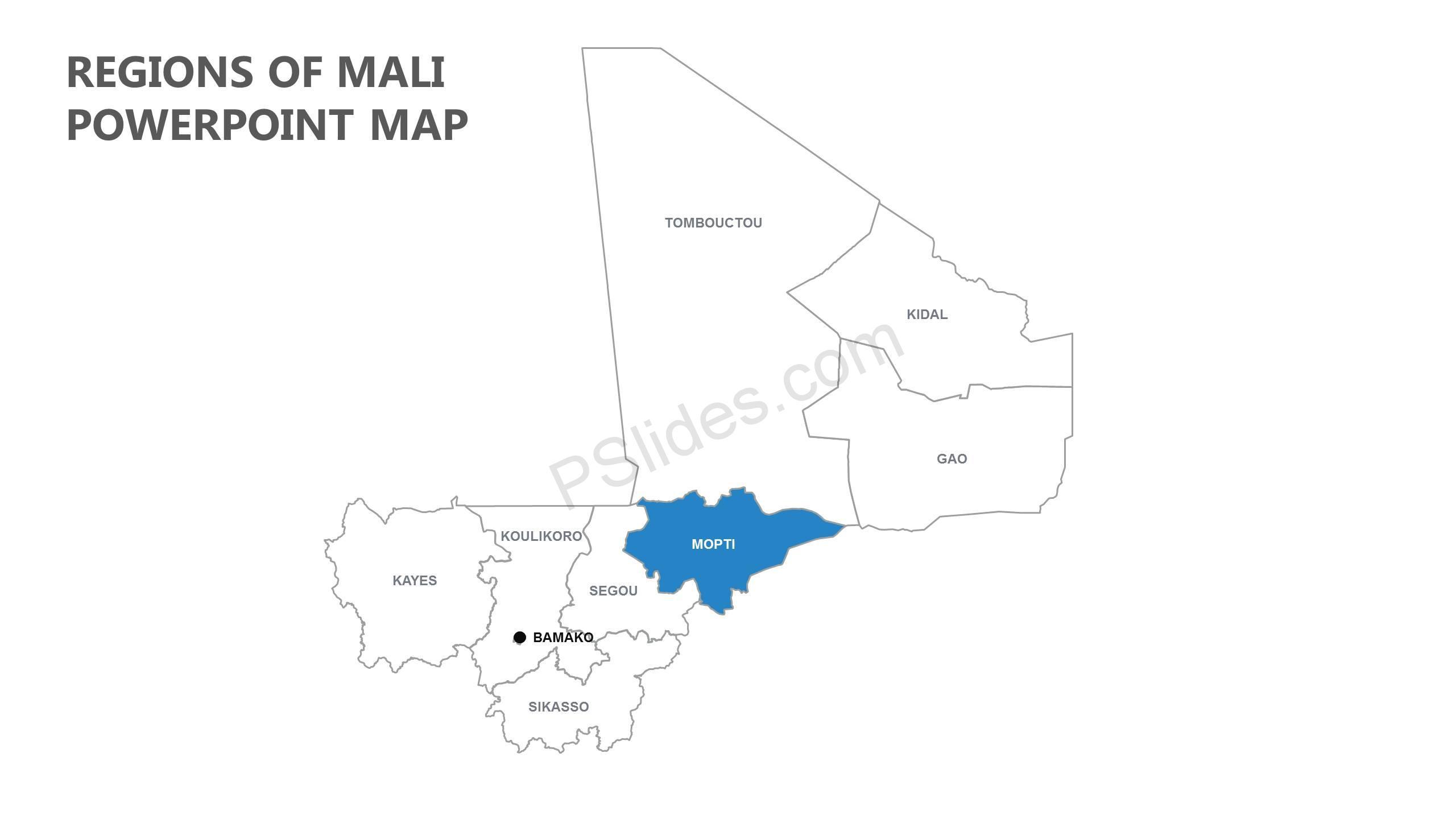 Regions-of-Mali-PowerPoint-Map-Slide1