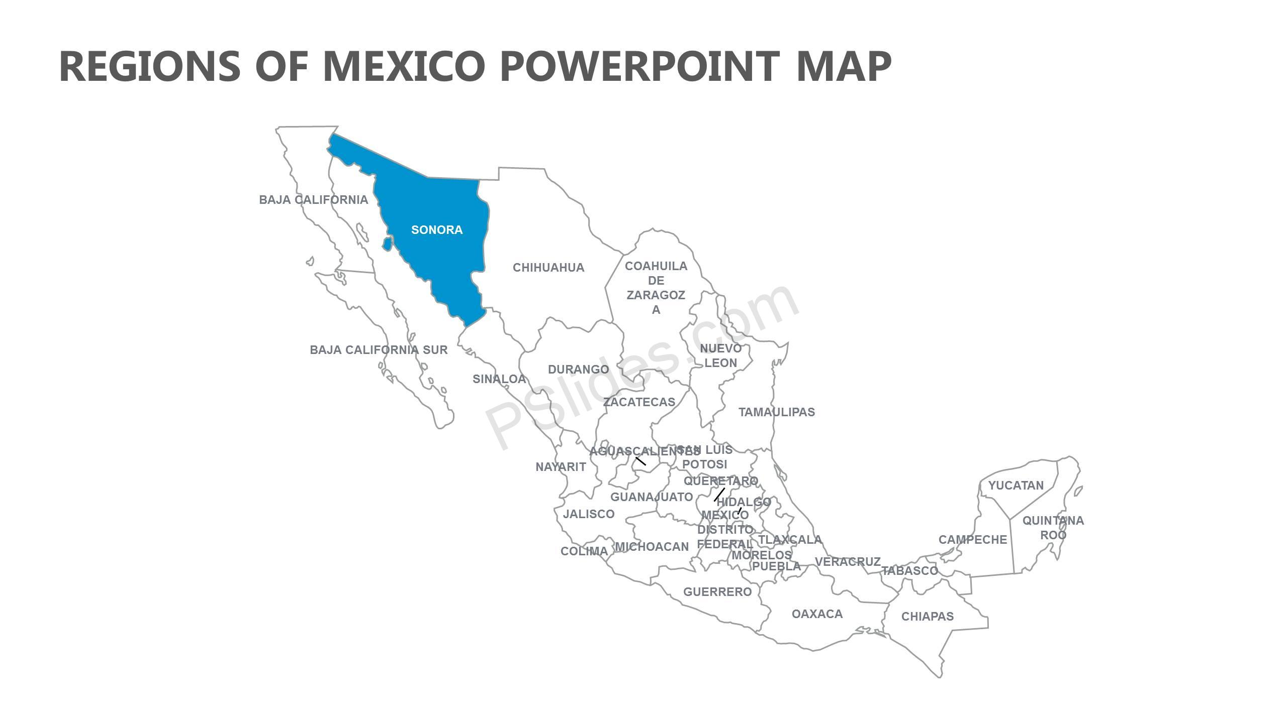 Regions-of-Mexico-PowerPoint-Map-Slide1