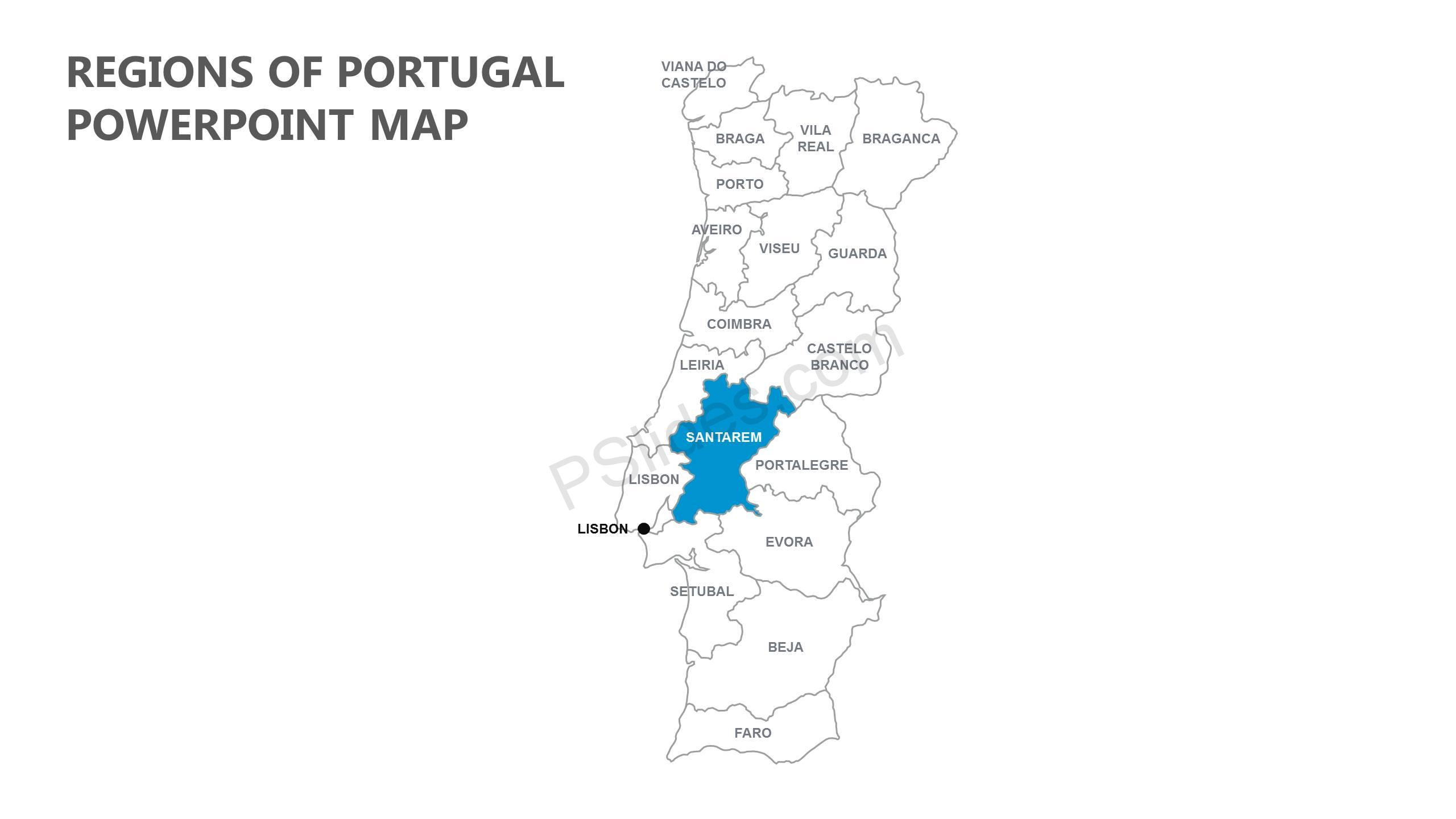 Regions-of-Portugal-PowerPoint-Map-Slide1