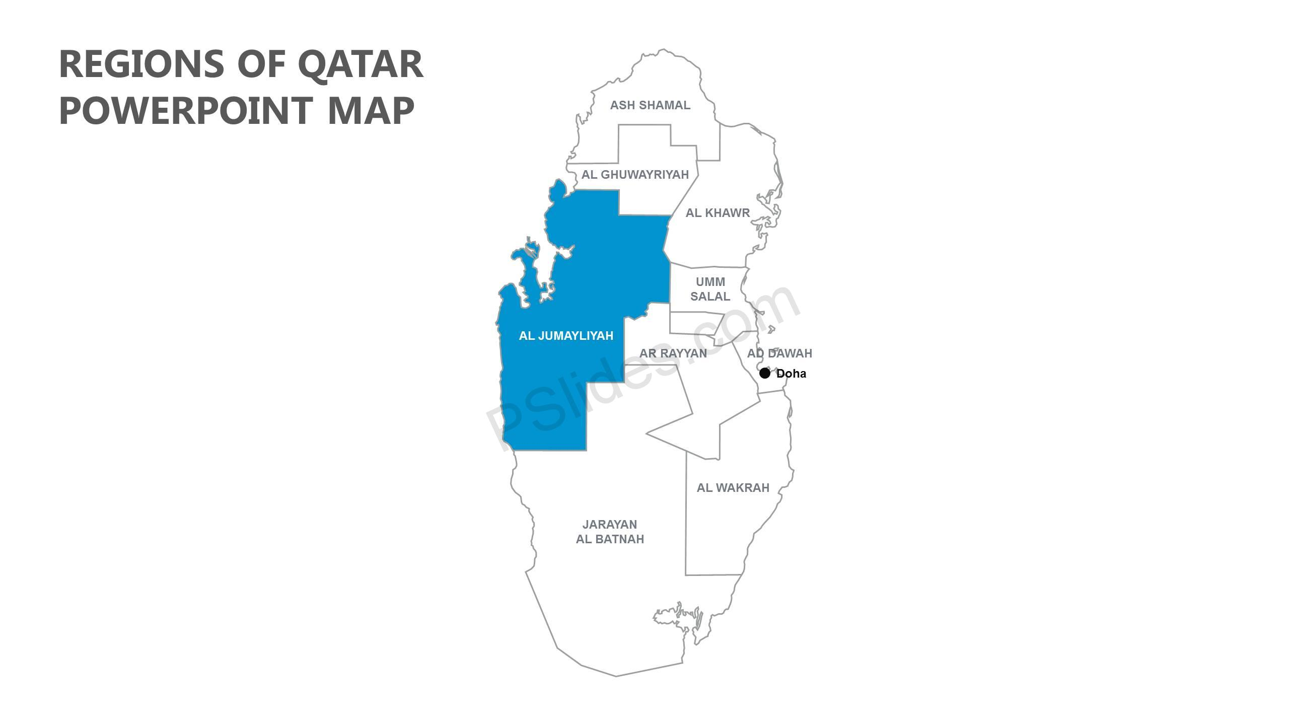 Regions-of-Qatar-PowerPoint-Map-Slide1