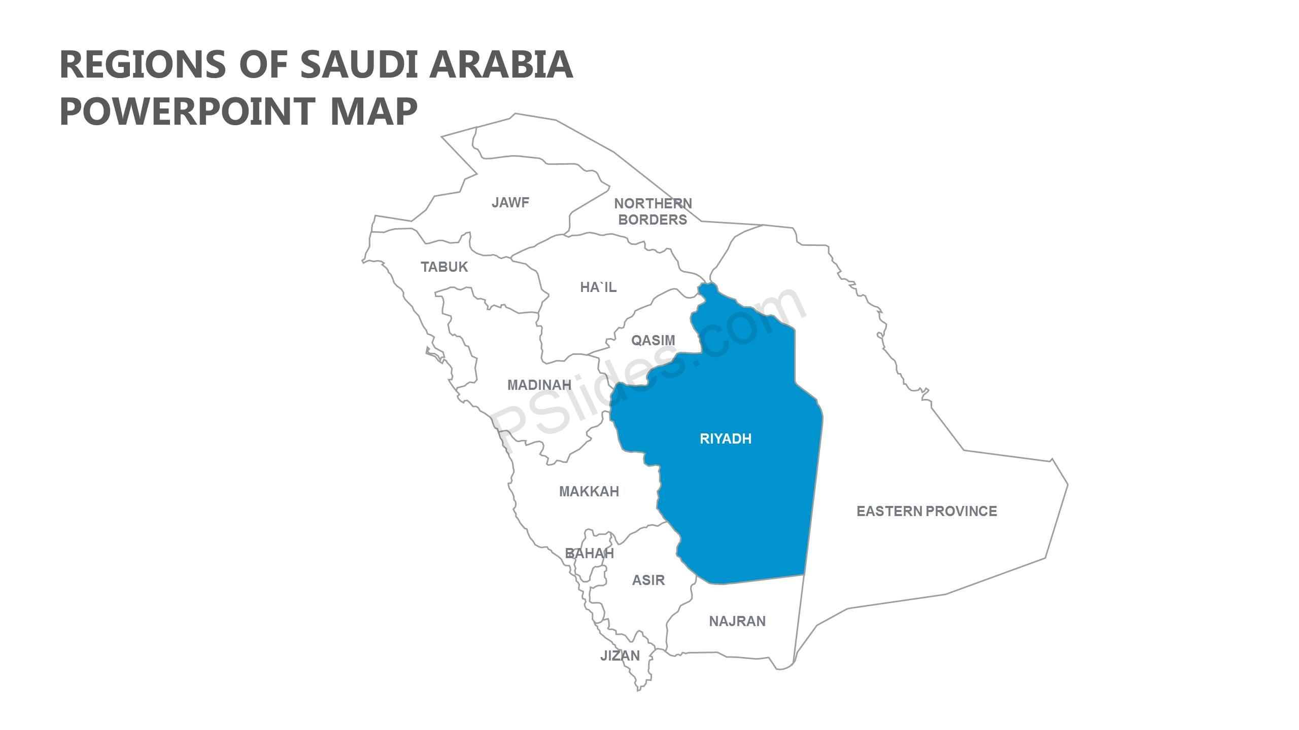 Regions-of-Saudi-Arabia-PowerPoint-Map-Slide1