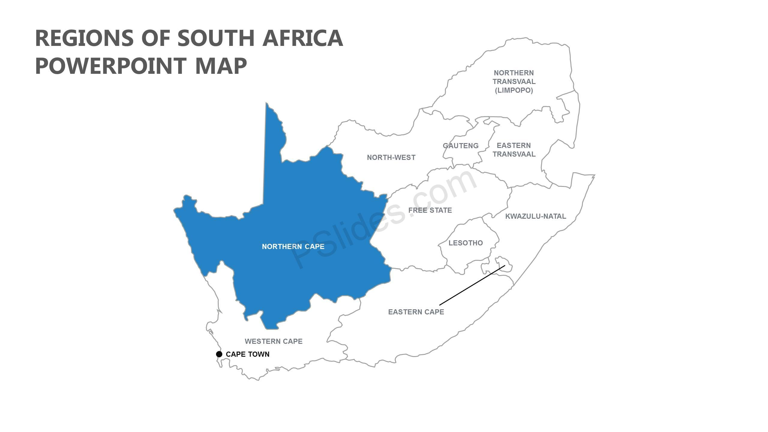 Regions-of-South-Africa-PowerPoint-Map-Slide1