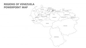 Regions of Venezuela PowerPoint Map