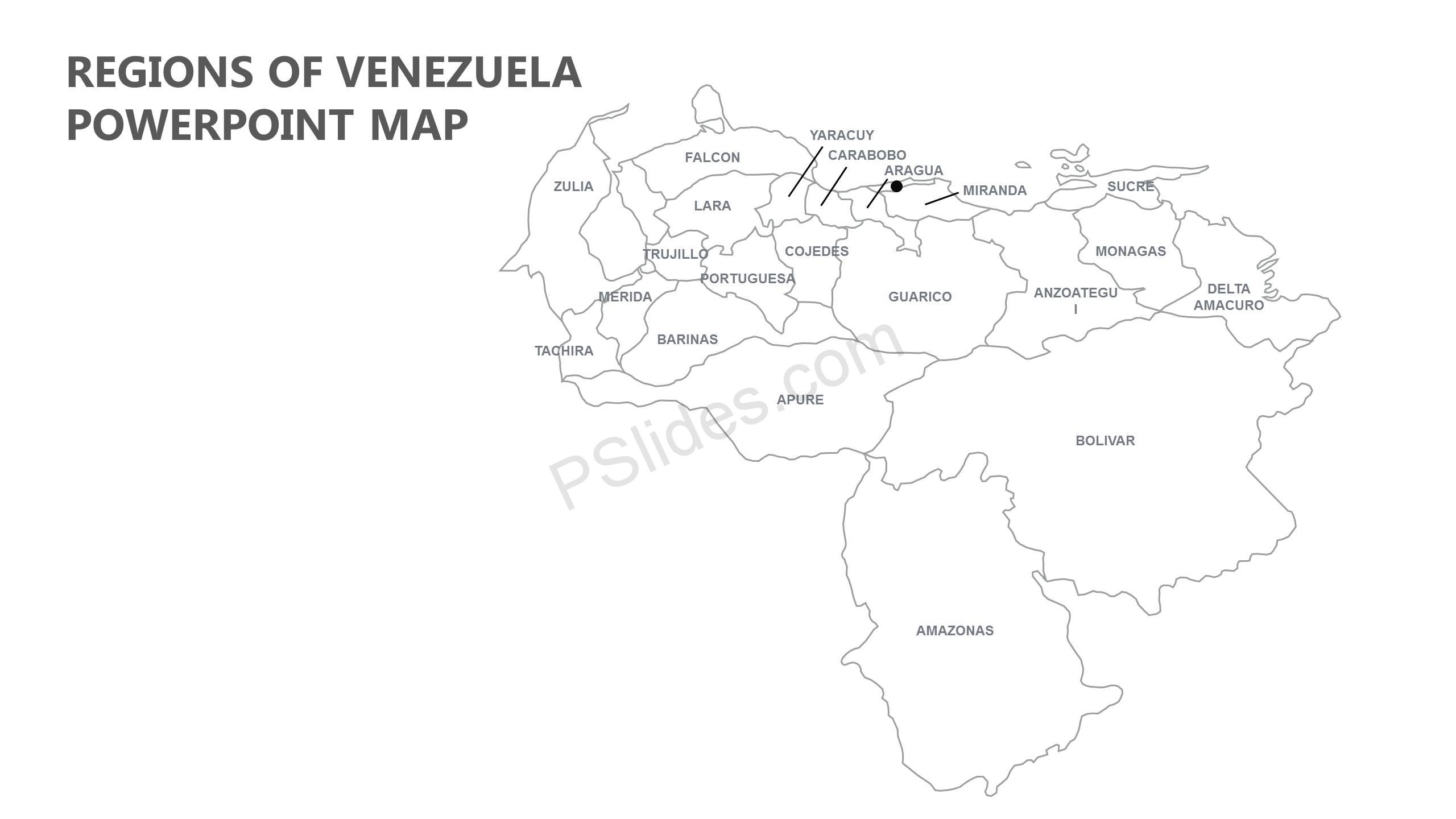 Regions-of-Venezuela-PowerPoint-Map-Slide1