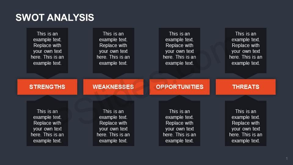 SWOT-Analysis-with-Text-Boxes-Slide1