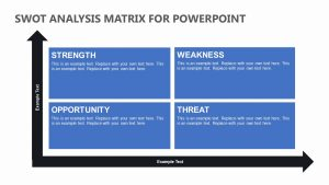 SWOT Analysis Matrix for PowerPoint
