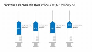 Syringe Progress Bar PowerPoint Diagram