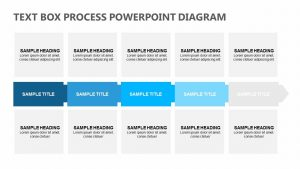 Text Box Process PowerPoint Diagram