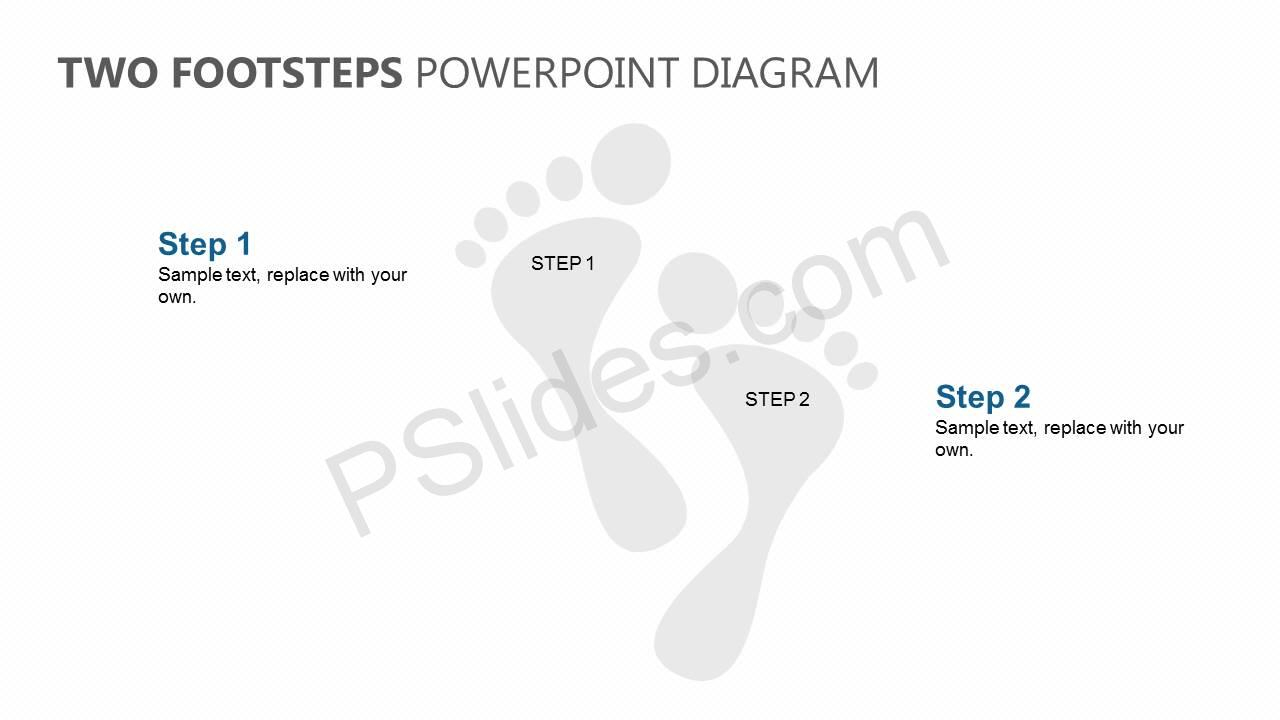 Two-Footsteps-PowerPoint-Diagram-Slide1