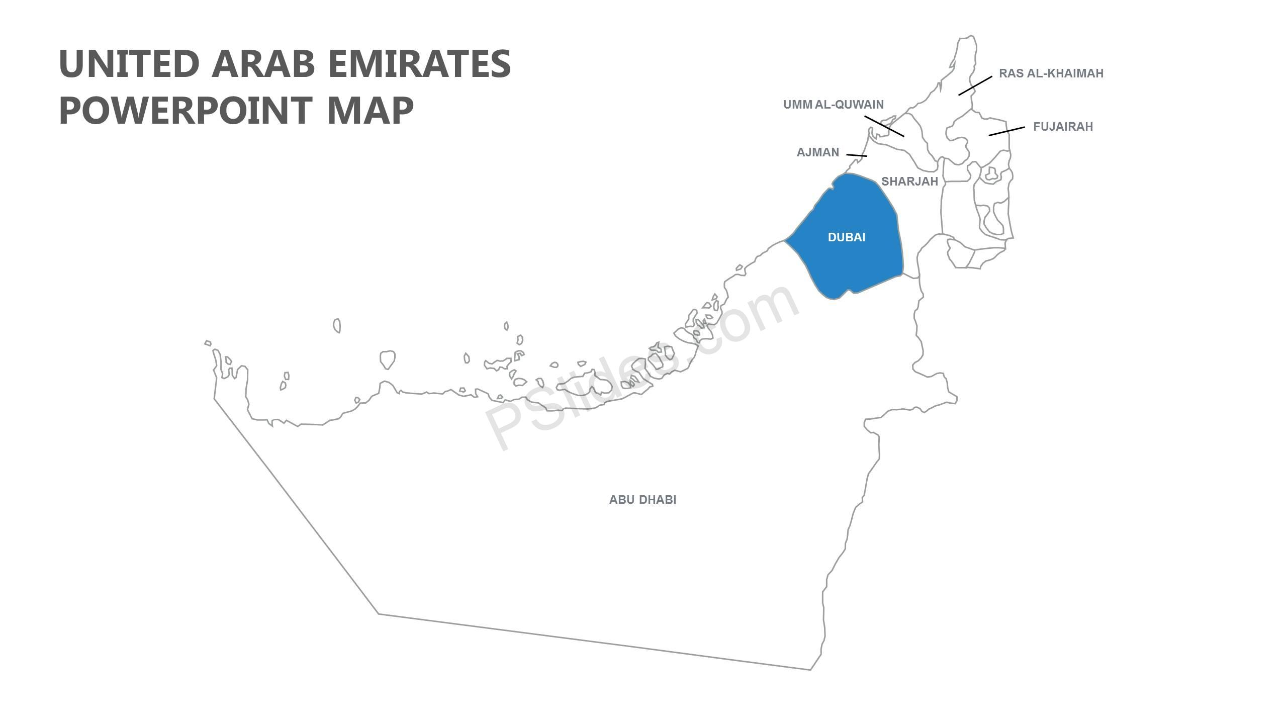 United Arab Emirates PowerPoint Map - PSlides on map of algeria, middle east, ras al-khaimah, burj al-arab, united states of america, map of bhutan, map of sudan, map of malaysia, arabian peninsula, persian gulf, map of iran, map of isle of man, map of ethiopia, map of dubai and surrounding countries, map of netherlands, abu dhabi, burj khalifa, map of montenegro, saudi arabia, map of singapore, map of pakistan, map of hungary, map of oman, map of venezuela, map of bosnia, map of bahrain, map of israel, map of armenia, map of denmark,