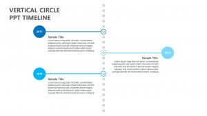 Vertical Circle PPT Timeline