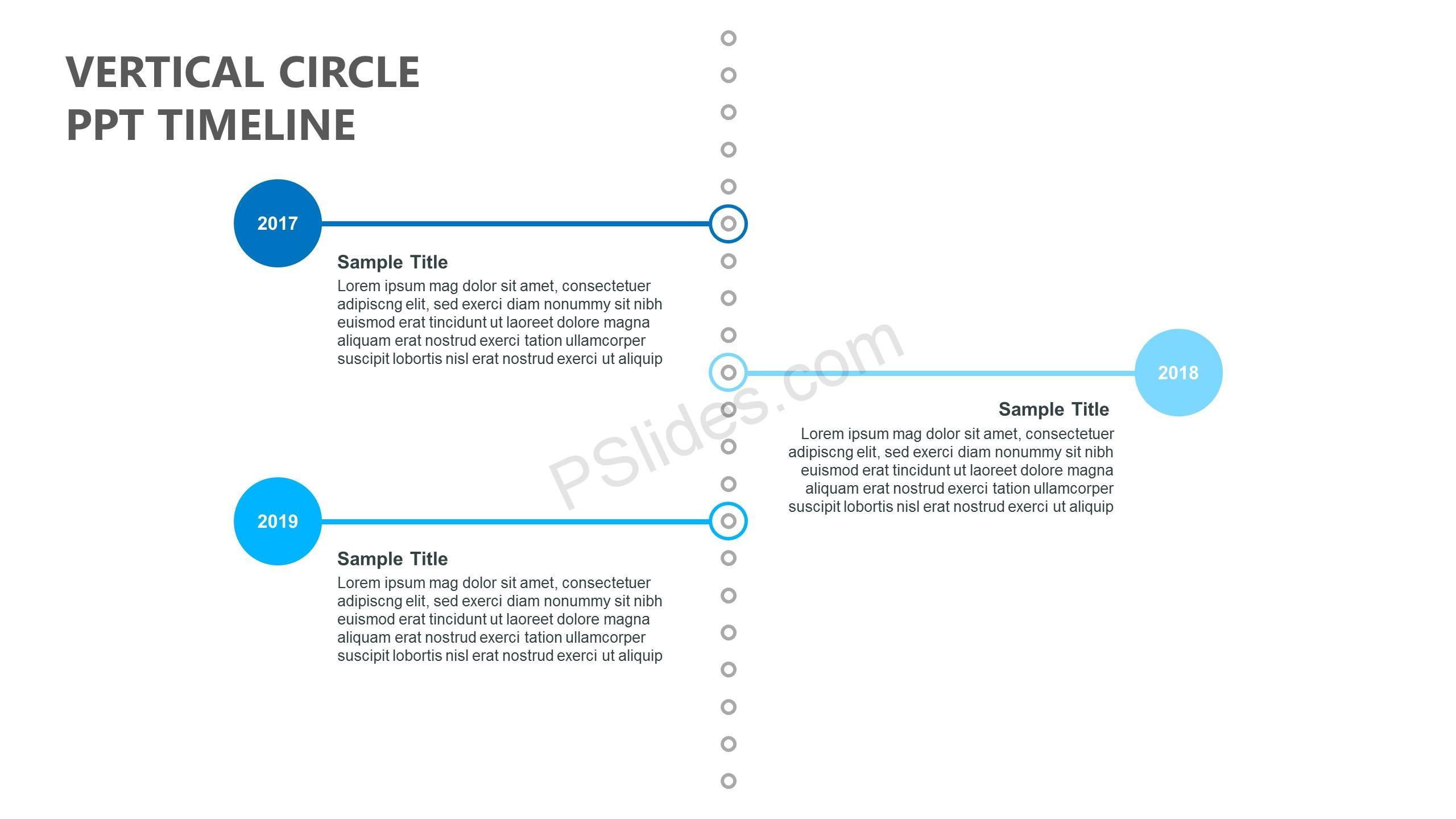 Vertical Circle PPT Timeline
